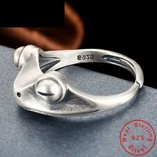 Silver Metal Vintage Fashion Jewelry Women's Frog Rings Bridal S925 Sterling