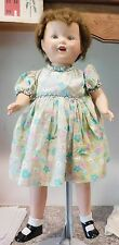 """CUTE 1940's Unmarked Composition Happy Chubby Baby 24""""  Mama Vintage Doll Redone"""