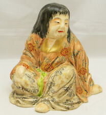 Fine Japanese 19C Satsuma Okimono - old woman