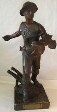 Important Sujet en bronze : Le semeur Henri-Louis LEVASSEUR