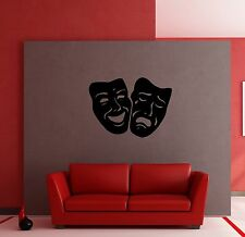Masks Comedy and Tragedy Theater Decor Wall mural vinyl Decal sticker M309