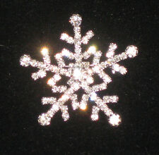 New Sparkly Winter Christmas Jewelry Snowflake Pin Crystal Avenue Brooch