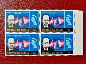 TRISTAN DA CUNHA SG 89 MNH 1966 Churchill. Variety Error Spot Next to St Paul's