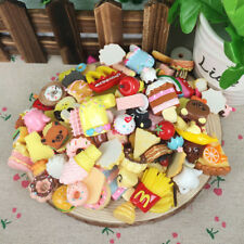 10pcs Random Kawaii Squishies Bun Toast Donut Bread charm Squishy Straps Toys
