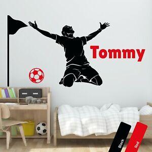 Football Personalised Wall Art Sticker Custom Name Decal Boys Kids Bedroom Decor
