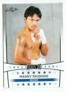 """RARE"" 2020 MANNY PACQUIAO LEAF STARS BOXING CARD #015! MINT!"
