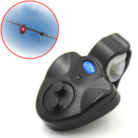 Electronic Fish Bite Sound Alarm Bell Clip on Fishing Rod LED Indicator Light TK
