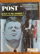 Saturday Evening Post 1967 May 6~plot to kill Kennedy?~Sharon Tate~Julian Bond