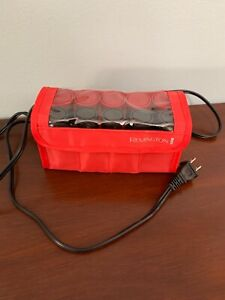 Remington Compact Set 10 Hot Roller Curlers Hair Setter H1015 For Travel 2 Sizes