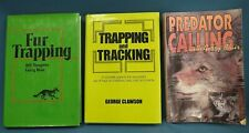 Lot of 3 Hunting Books Trapping Tracking Predator Calling