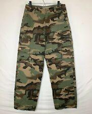 Lee Mens Stylistic Mr Lee Camo Cargo Pants 11 Pkt 9 w Snap Tiger Logo Sz 32 NEW