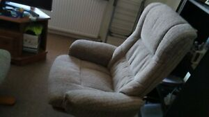 swivel recliner chair with footstool