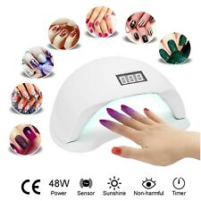 UV Nail Lamp LED Nail Polish Dryer 48W Light Fast Gel Curing Manicure Machine UK