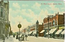 Austin MN Snyder Land Company and Austin Furniture on North Main Street 1913