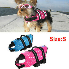 Pet Dog Cat Life Jacket Safety Float Waterproof Adjustable  Size S (BLUE)