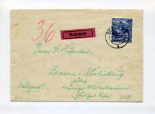 1941 3.Reich Rohrpost Brief EF 25 Pfg Wiedereingliederung Mi 809