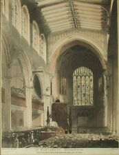 Thomas Rowlandson Microcosm of London St Margaret's Westminster Etching 19th C.