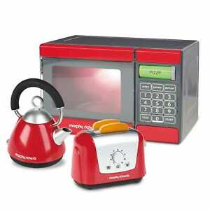 NEW CASDON MORPHY RICHARDS MICROWAVE, KETTLE & TOASTER PLAY SET 680