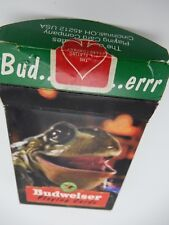 Budweiser Anheuser-Busch Frog Playing Cards 1996 Playing Card Company