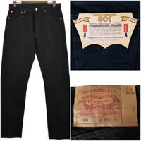Vtg Deadstock 1993 Levi's Original 501 Preshrunk Black Denim Jeans 33x32 Mexico
