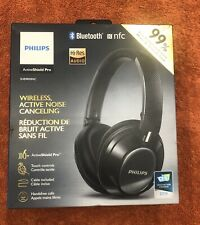 Philips Wireless Noise Cancelling Bluetooth On-Ear Headphones Black SHB9850NC