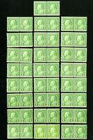 US Stamps # 597 F-VF Lot of 25 line pairs OG NH Scott Value $100.00