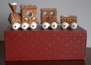 Villeroy & Boch Lebkuchenzug Winter Bakery Decorations Weihnachten 3 tlg Neu OVP