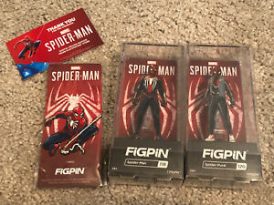Brand New PS4 Marvel Spider-Man x FigPin  EXCLUSIVE + Spider-Punk Set Of 3