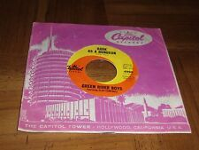 GREEN RIVER BOYS FEATURING GLEN CAMPBELL 45 RPM-NM-DARK AS A DUNGEON/DIVORCE ME