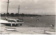 Tanga, Tanzania - boats, beach - real photo postcard, stamps 1951 pmk