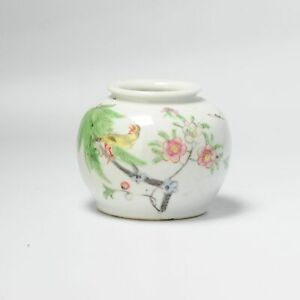Antique 19th C Chinese Porcelain Waterpot in Fencai Color China