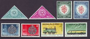 Pakistan 1961 SC 151-158 MH Set Train Police
