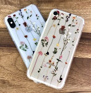 Flower Cute Clear Floral Daisy Silicone iPhone Case 11 12 XR X XS Pro Max 7 8
