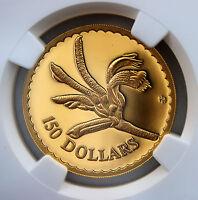 1997 $150 Gold Proof Floral Emblems of Australia Kangaroo Paw  NGC PF69 UCAM
