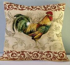 Brand New Hollowfibre Cushion Chicken Rooster Cream Cushion Cover + Pad