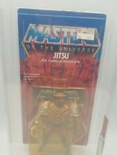 1984 MOTU Jitsu AFA 70 Y-EX+  Unpunched China Sticker Masters of the Universe