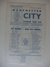 Aston Villa Football Reserve Fixture Programmes (1960s)