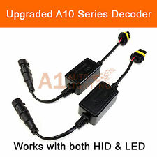 2x A10 EMC 9006 Headlight Kit Canbus LED Decoder Anti-Flicker HID Relay Adapter