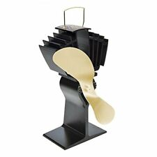Ecofan 812AMBBX AirMax Large Heat Powered Wood Stove Fan, Made in Canada, Gold