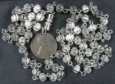 Modern Chrome Ball Necklace 24""