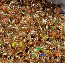 10 pc Metal GEM Girl RINGS BULK Birthday Party Favord TOYS Pinata Bag Filler