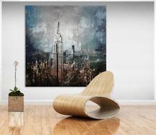 New York Skyline Bild Leinwand Abstrakt Kunst Bilder Wandbild Kunstdruck D0006