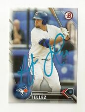 2016 ROWDY TELLEZ BOWMAN PROSPECTS AUTOGRAPH CARD BP132 SIGNED IN PERSON TORONTO