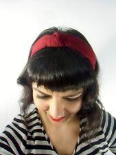 Serre tête turban épais tissu rouge bordeaux rétro pinup vintage inspired