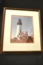 Oregon Coast Yaquina LightHouse Wood Framed Image Artistic Portrayal