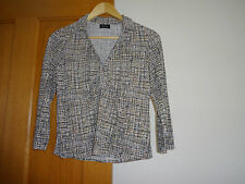Ladies, black/white/yellow, Florence & Fred top size 12