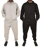 New Mens Tracksuit Corduroy Hoodie Joggers Big Size Set Lined Hooded Zipper Top