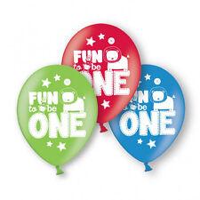 6 X 1st Ballons Anniversaire Amusant D'Être 1 Ballons Décoration de Fête Garçons