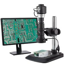 AmScope Digital Zoom Inspection Microscope + 3D Lighting + Dual Focus