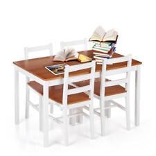Esstisch weiß mit 4 Stühlen  [118x75] Tisch Stühle Essgruppe Sitzgruppe D4Y1